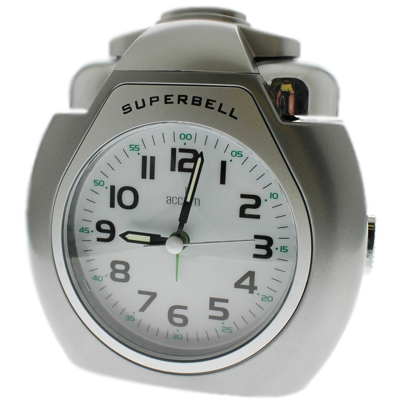 Acctim Superbell Alarm Clock - Silver