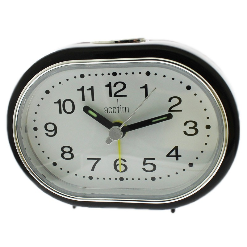 Acctim Tern Alarm Clock - Black