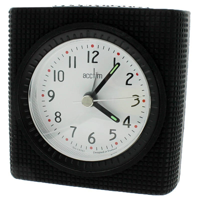 Acctim Vela Alarm Clock - Black