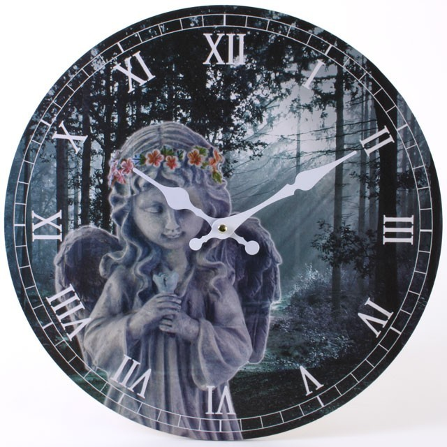 Dark Angel Garden Wall Clock