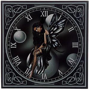 Dark Fairy Bubbles Picture Wall Clock