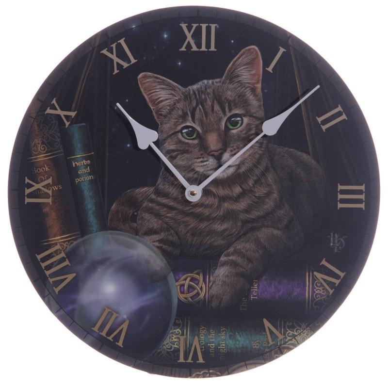 Fortune Teller Cat Wall Clock