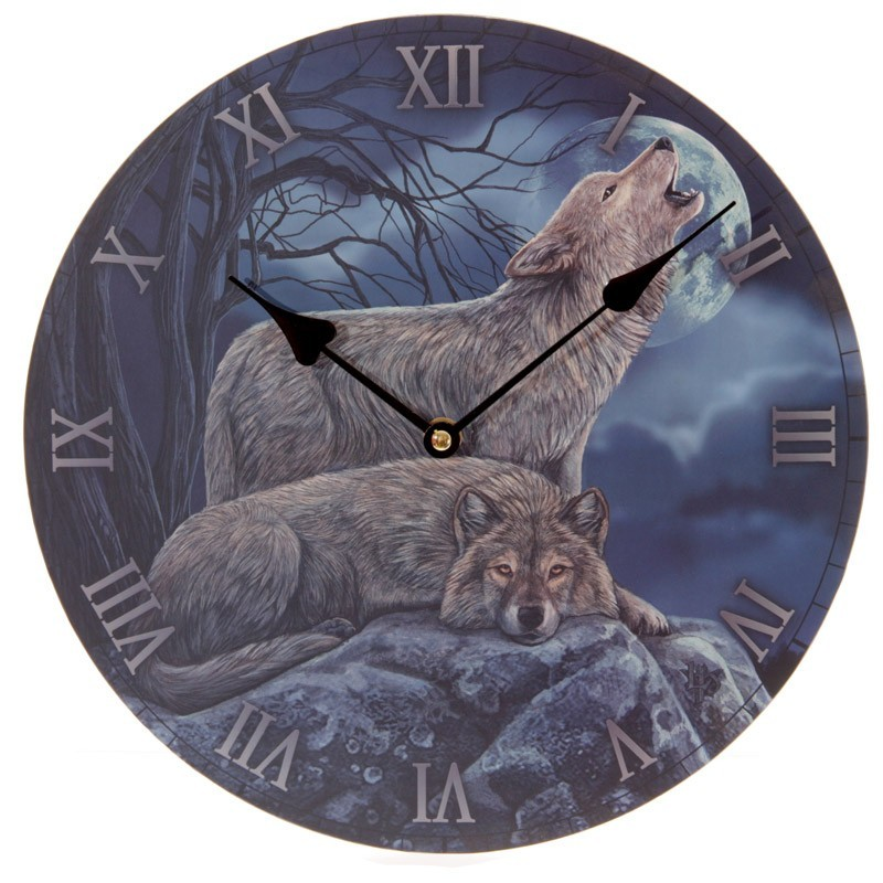 Howling Wolf Design Picture Wall Clock