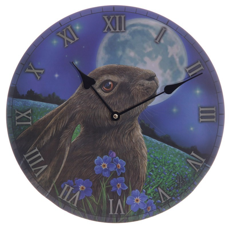 Moon Gazing Hare Picture Wall Clock