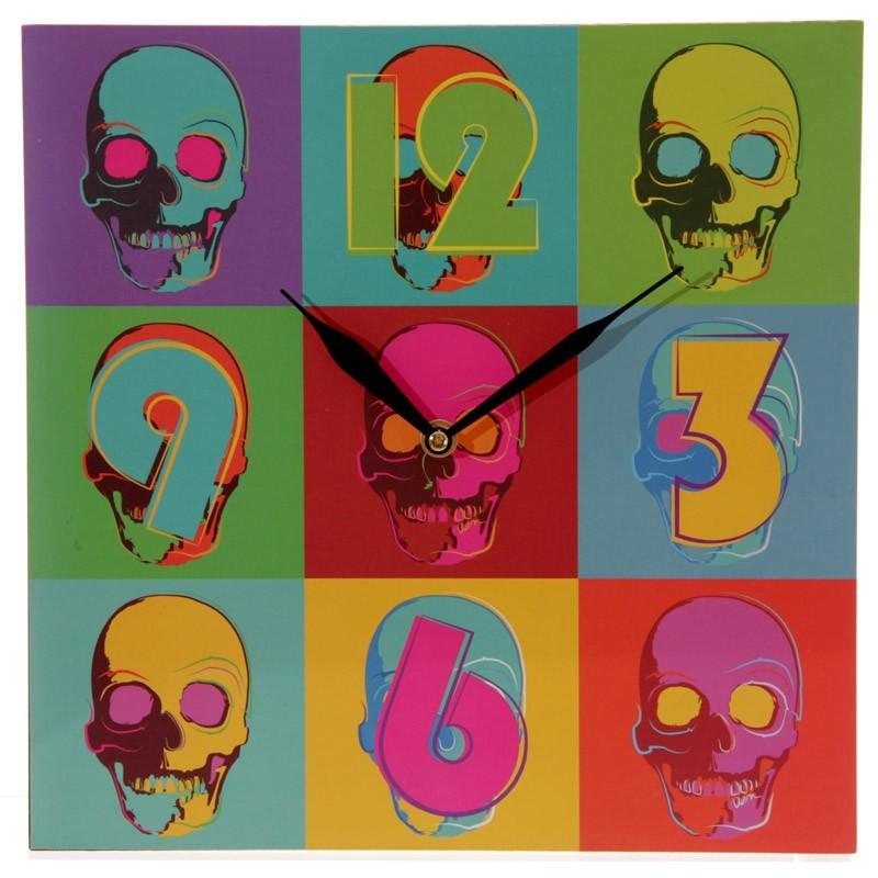 Pop Art Skull Picture Wall Clock