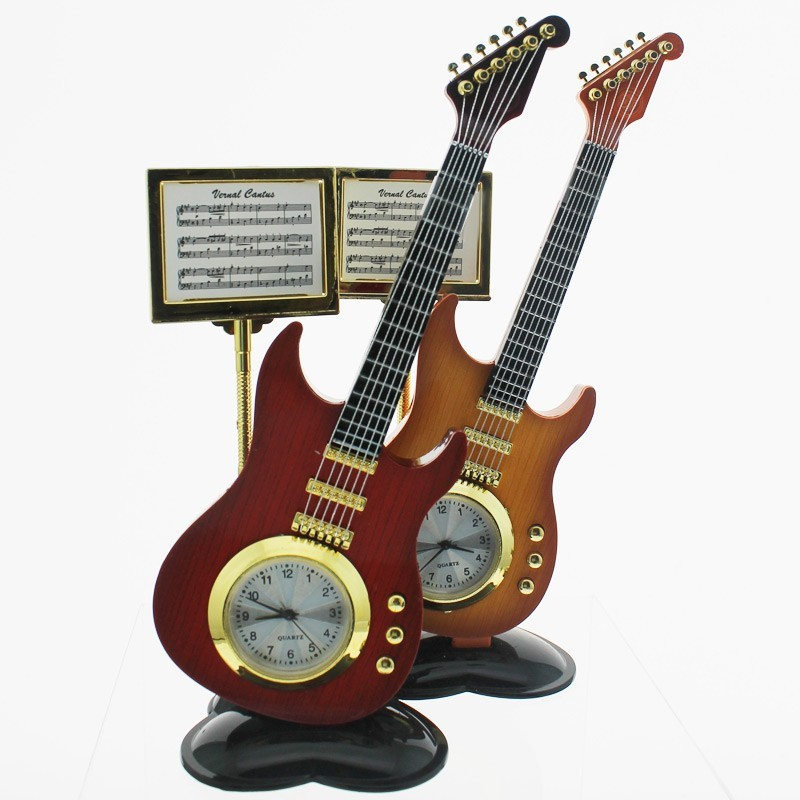 Standing Electric Guitar Design Clock - Assorted Designs