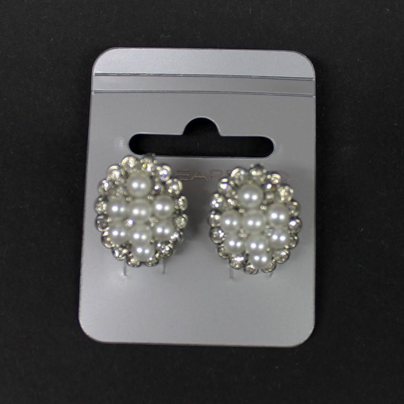 Clip-on Earring Pearl & Diamante
