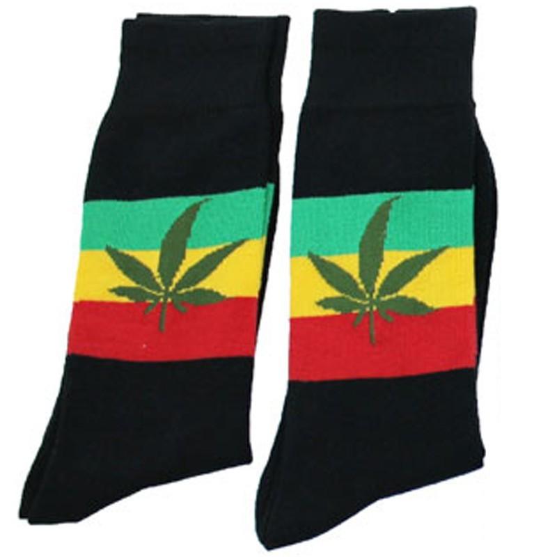 Cannabis Leaf Print Design Socks