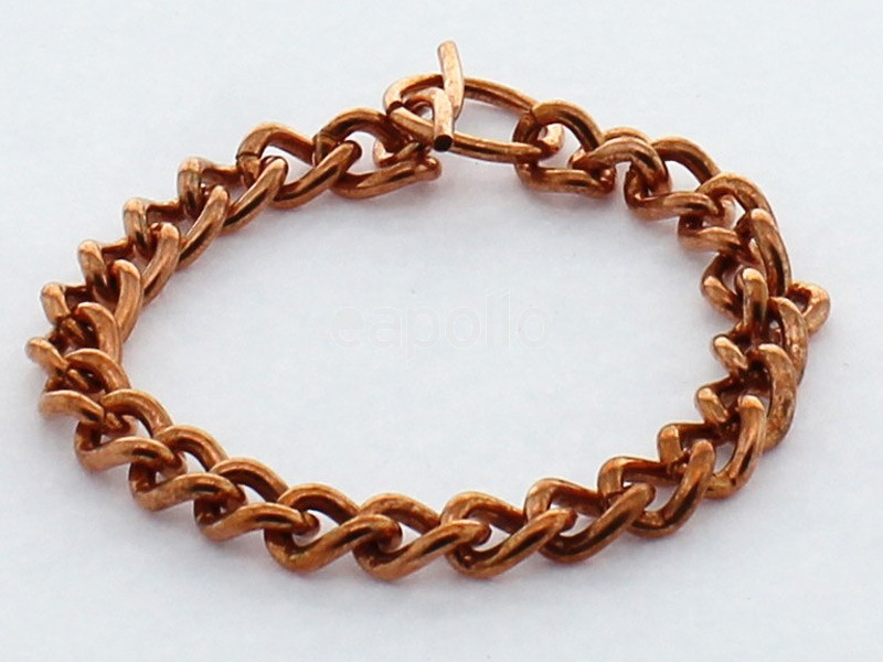 Copper Bracelet - Curb Design 19 cm