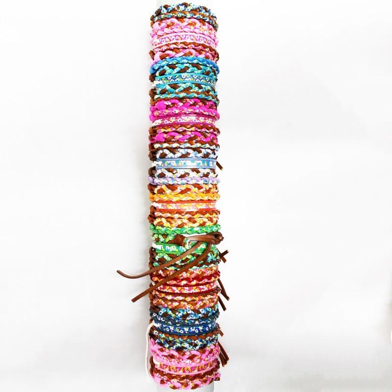 Friendship Bracelet Assorted Flowers Design On Roll For Display