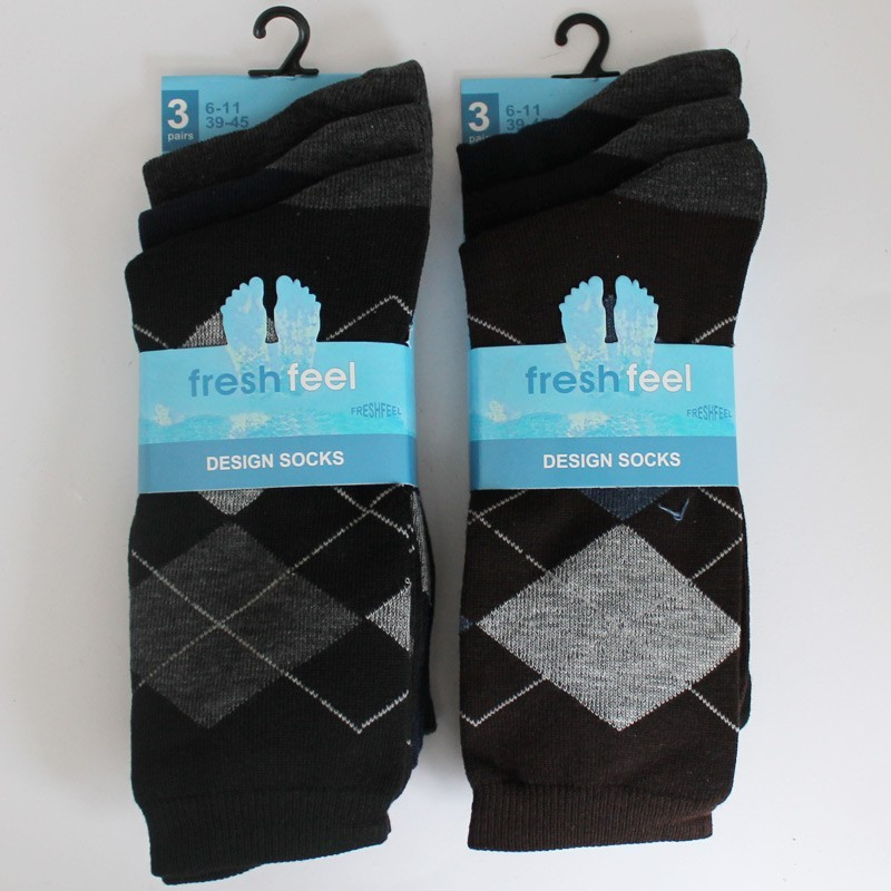 Fresh Feel Men's Design Socks