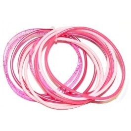 Gummy Bangles - Pink Assorted (12 Packs of 12)