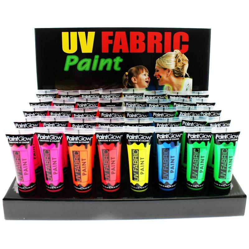 Paint Glow UV Neon Fabric Paint - Full Tray (40 Pcs)