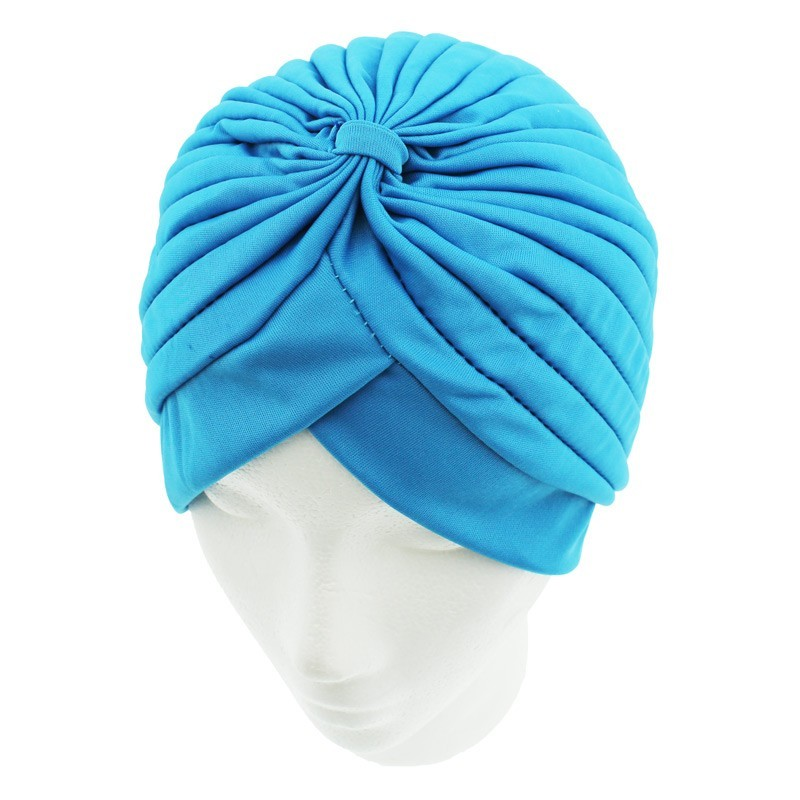 Jersey Turban Hat In Blue Colour