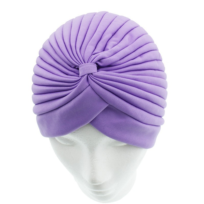 Jersey Turban Hat In Lilac Colour