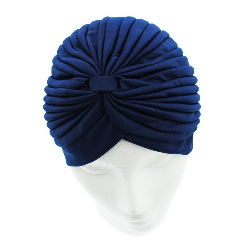 Jersey Turban Hat In Navy Colour