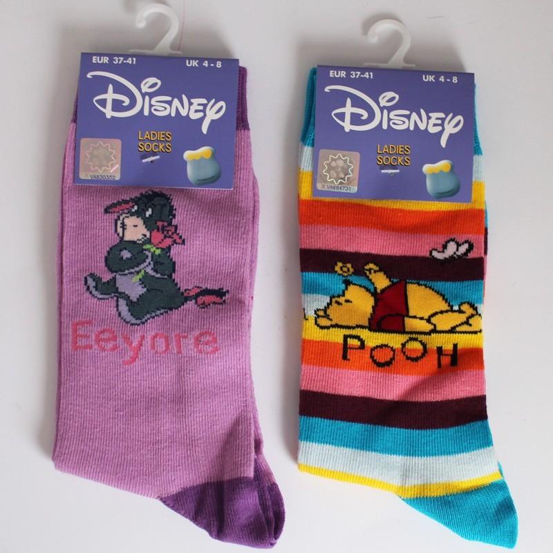 Ladies' Winnie The Pooh Coloured Socks - Assorted