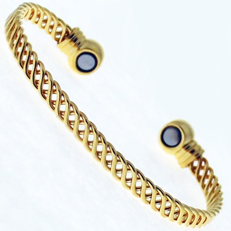 Magnetic Bangle - Gold Weaving Basket (Medium)