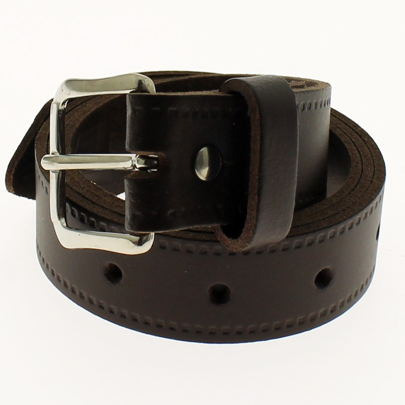 "Men's Leather Belts 1.25"" Wide - Dark Brown"