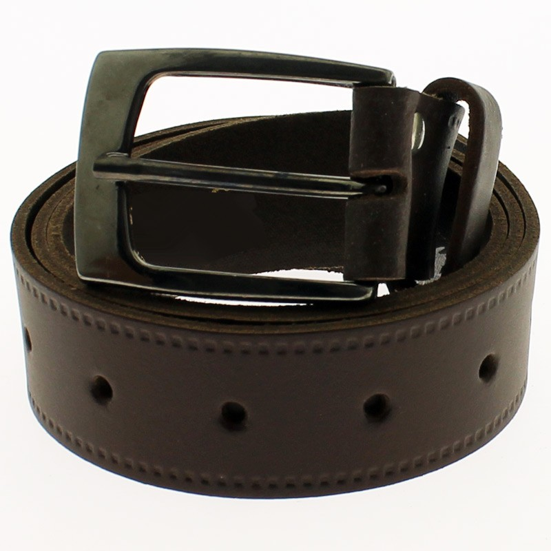 "Men's Leather Belts 1.5"" Wide - Dark Brown"