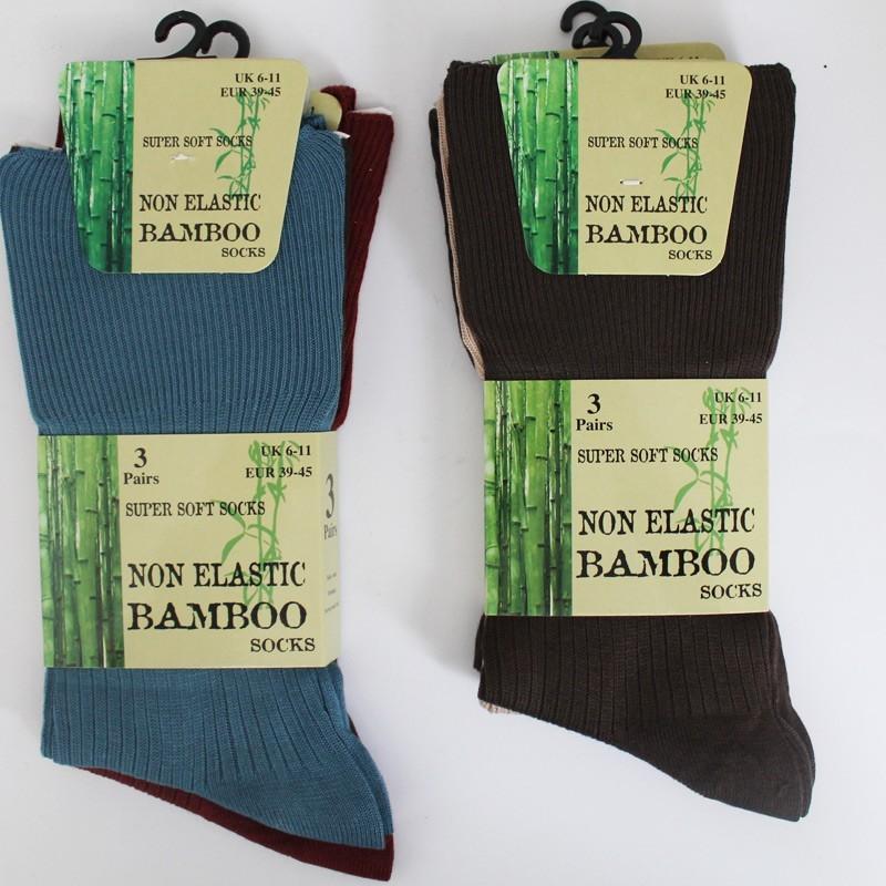 Non Elastic Bamboo Super Soft Socks UK 6-11 (Assorted Colours)