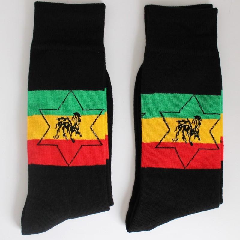 Rasta Star Design Socks