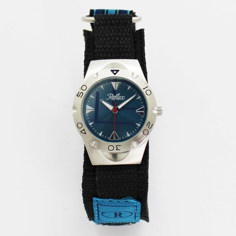 Reflex Gents' Nylon Velcro Strap Watch - Blue Dial