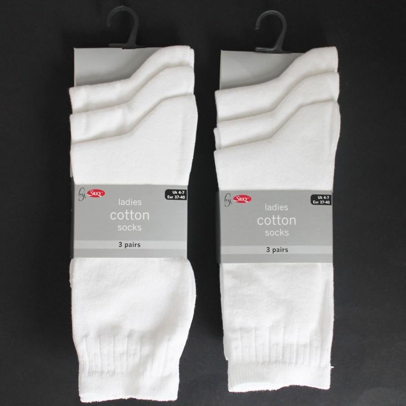 Silky's Ladies Cotton Ankle Socks - White