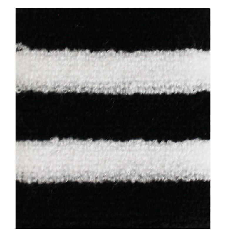 Black And White Stripes Design Sweatbands