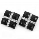 Clip Square Earrings