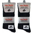 Boys Non-Elastic Casual Wear Black Cotton Rich Comfort Socks