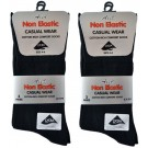 Non-Eleastic Ladies Casual Wear Cotton Rich Comfort Socks - Dark Assorted