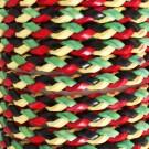 Friendship Leather Bracelet In Rasta Design On Display Roll