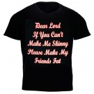 """Dear Lord If You Can't Make Me Skinny...'' Design Black Cotton T-Shirt"