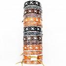 Friendship Leather Bracelet X Design Assorted On Display Roll