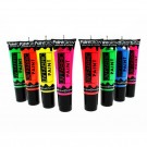 Paint Glow UV Neon Fabric Paint - Assorted (8 Pcs)