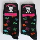 Kids Cotton Ankle Socks-Skulls Design