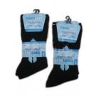 Men's Fresh Feel Non-Elastic Easy Grip Ribbed Socks - Black