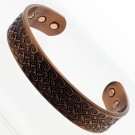 Magnetic Copper Bangle - Swirl - Medium Size