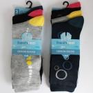 Mens 'Fresh Feel' Bubble Design socks Assorted Colours & Designs