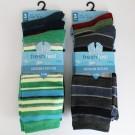 Mens 'Fresh Feel' Striped Design Socks
