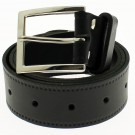"Men's Leather Belts 1.5"" Wide - Black"