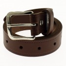 "Men's Leather Belts 1.25"" Wide - Tan"