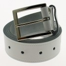 "Men's Leather Belts 1.5"" Wide - White"