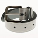"Men's Leather Belts 1.25"" Wide - White"