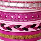 Friendship Leather Bracelet On The Roll Assorted Pink
