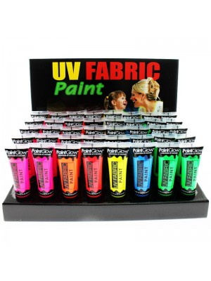 Paint Glow UV Neon Fabric Paint - Full Tray (40 Pcs)
