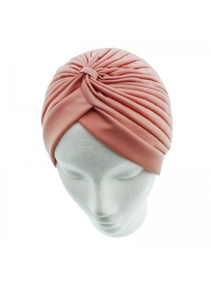 Jersey Turban Hat In Peach Colour