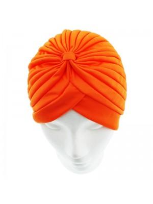 Jersey Turban Hat In Orange Colour