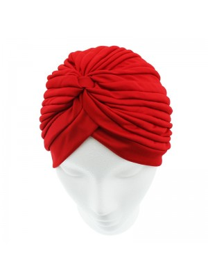 Jersey Turban Hat In Red Colour